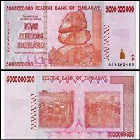 ZIMBABWE 5 Billion Dollars, 2008, P-84, World Currency, 100 Trillion Series