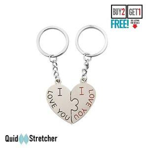 Cute Metal 3D Kiss Heart I LOVE YOU Keychain Keyring Lover Couple Keyfob Gift