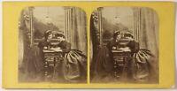Scena Artistica Modalità Parigi Foto Stereo Vintage Albumina c1865