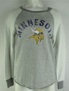 Minnesota Vikings NFL Women's Touch Long Sleeve Knit Crew Neck Sweater