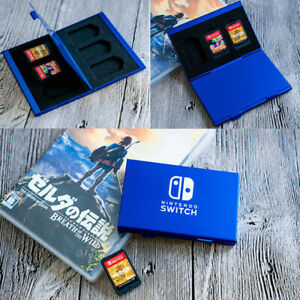 For Nintendo Switch Game Card Case Holder Metal Storage Box Protector Cover kit