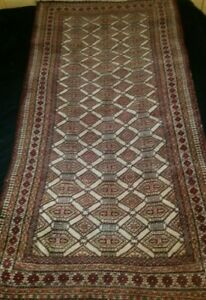 Antique Turkoman Turkmen Ersari Torba Tribal Rug Size 41'' x 77''