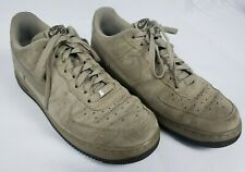 Nike Air Force 1 '07 Khaki Dark Cinder Men's Suede Shoes 315122-204 - Size 11