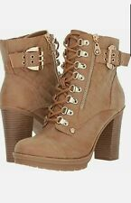 G by GUESS Womens Taupe, Winter Boots, High Heel