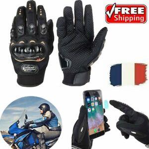 Gants pour scooter moto quad dirt noir avec protection Peut toucher l'écran