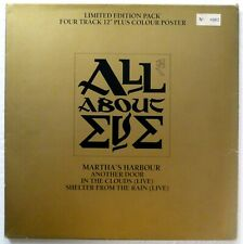 "All About Eve Martha's Harbour 1988 Ltd.Ed. 12"" Huge Poster Goth Lp Rp1369"