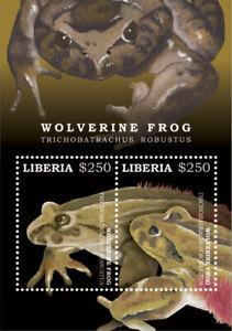 Liberia 2017 - Wolverine Frog - Souvenir Sheet - MNH