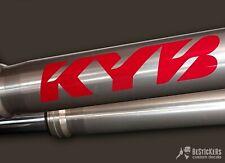 2 ADESIVI KYB forks KAYABA forcelle kawasaki KX YZ RM Honda CR 125 250 500
