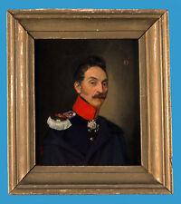 Preussischer Stabsoffizier Herwarth von Bittenfeld 1839 dat. Ölgemälde auf Holz