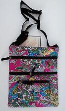 o Pink PAISLEY SHOULDER BAG cross body TRAVEL Tablet netbook Purse