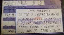 Zz Top & Lynyrd Skynyrd 2000 Ticket Stub Pepsi Arena 1/25/2000