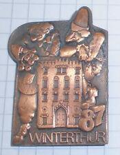 fasnachtsorden alt anstecker metall  schweiz winterthur  fasnet 1987  top deko
