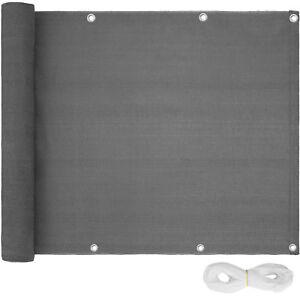 Brise vue pour balcon protection visuelle solaire pare-vent 90x500cm gris