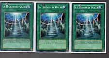Yugioh Cards - Playset of 3x A Legendary Ocean SD4-EN020 1st Edition