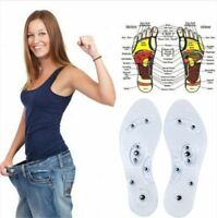 1Pair Magnetic Therapy Insole Transparent Silicone Anti-fatigue Foot Care Insole