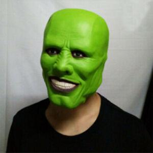 Movie The Mask Jim Carrey Loki Latex Masks Cosplay Costume Prop Party Halloween
