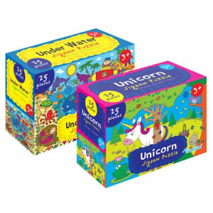 Unicorn & Under Water Jigsaws - Large Puzzle Pieces Kids Childrens First Toy
