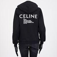 CELINE 960$ Classic Hoodie Sweatshirt In Celine Invitation Printed Fleece