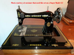 5x NOS SINGER Sewing Machine Decal Set EAGLE for Model 15 27 66 127 Full Sized