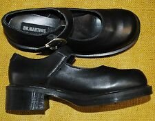 Doc Dr. Martens Platform Mary Jane Buckle Shoes Women's UK 7/US 9 Black Leather