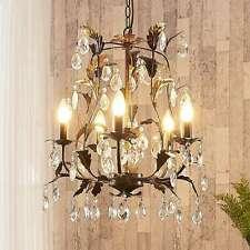 Kronleuchter Malaika Rost Gold Kristall Lüster 5-flammig Lampenwelt Wohnzimmer