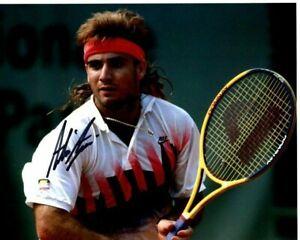 ANDRE AGASSI Signed TENNIS Photo w/ Hologram COA