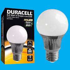 8x 6W Regolabile Duracell LED Ghiacciato GLS Globo Istante Su Lampadina Es E27