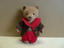 Simba Bärenwald Bär Papa Mann rote Hose braune Cord Weste roter Kragen 11,5 cm