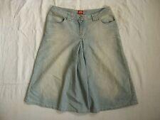 Miss Sixty Blue Jeans Shorts 3/4 Gr.S high waist loose fit short wide leg