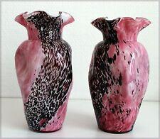 Paire de vases en verre de Murano (ou Clichy?)
