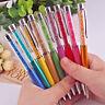 schöner Kugelschreiber kleine glitzer KRISTALLE EDEL Kuli Crystal Pen Tinte blau