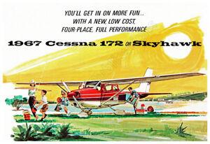Cessna 172 Skyhawk 1967 Vintage Advertising Poster