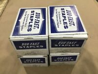"""Lot Of 4 Boxes (9600) Duo-Fast 1120-C 5/8"""" Staples Galvanized #484DK"""
