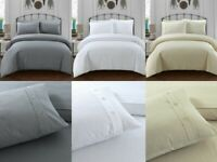 Sleepdown WAFFLE Polycotton Reversible Duvet Cover Set with Pillowcases