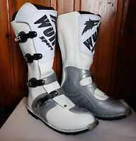 WULFSPORT ADULT SUPERBOOT MX OFF ROAD ENDURO WULF MOTOCROSS BOOTS WHITE T