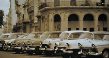 "AUTOMOBILES, CUBA, Photo reproduction, digital print, 24""h x 12""w image"