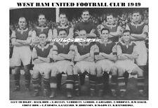 WEST HAM UNITED F.C. TEAM PRINT 1949 (GAZZARD/PARSONS)