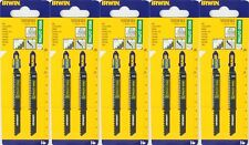 10 x Irwin HCS MASCHERA di inserimento lame di sega legno taglio 8 TPI Bosch T111C LEGNO 4 a 50mm