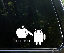 Android - fixed it! - funny decal / sticker apple