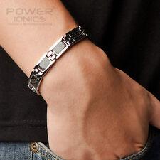 New Mens Womens Power Titanium Black Fiber Magnetic Bracelet Balance Band Energy