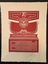 CHINESE BANNER LETTERPRESS - Shepard Fairey - Obey Giant - Signed and Numbered