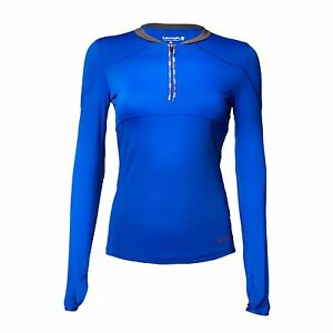 Lornah Sports GABRA Long Sleeve 1/2 Zip Running Top - Blue Clearance Price £8