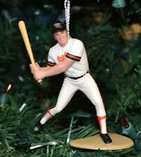 Cal Ripken, Jr. Baltimore White Jersey Baseball Swinging Christmas Tree Ornament
