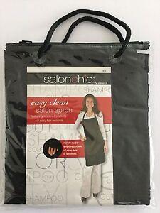 """EASY CLEAN"" Silky PolySatin Salon Apron *Static-free *Zipper Pockets *Salonchic"