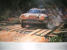 Paris Dakar 1986 Nicholas Watts dédicacé RENE METGE PORSCHE 959 Print
