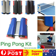 Table Tennis Net Rack Portable Retractable Replacement Ping Pong Kit Sports OZ
