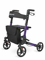 OasisSpace Euro Style Medical Seat & Back Foldable Rollator Walker 4 Wheels US