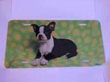 New Boston Terrier Metal License Plate