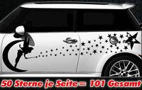 101 Sterne Star Auto Aufkleber Set Sticker Tuning Fee Stylin WANDTATTOO