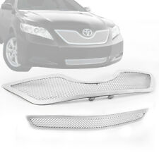 2007-2009 TOYOTA CAMRY CHROME FRONT UPPER+LOWER BUMPER MESH GRILLE GRILL INSERT